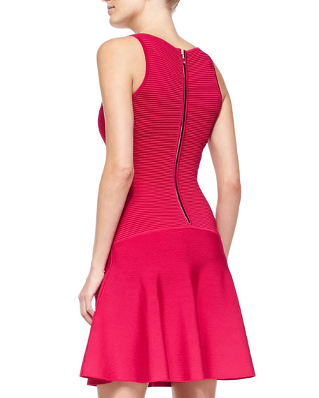 Knit Fit-&-Flare Sleeveless Dress