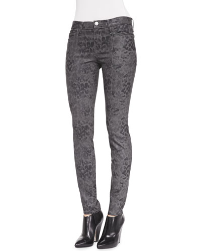 Current/Elliott Skinny Ankle Python-Print Pants
