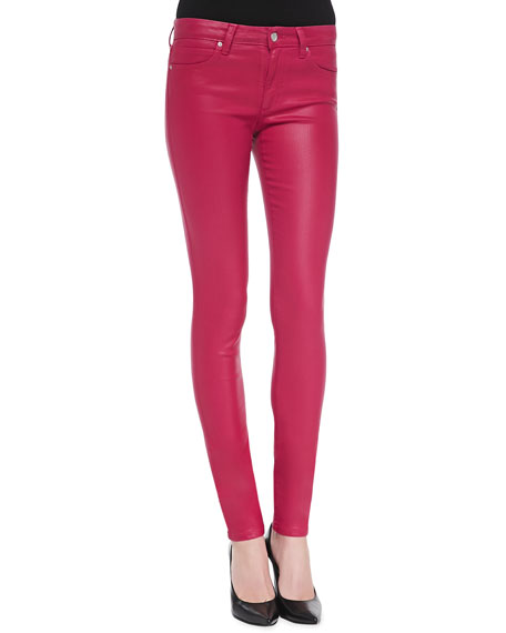Mid-Rise Coated Skinny Jeans