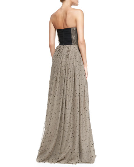 Surin Sequined Cinched-Waist Ball Gown