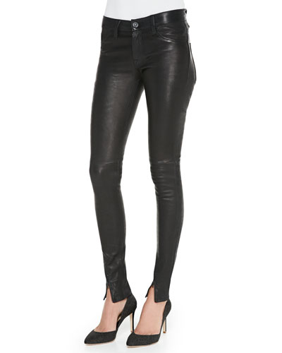 Hudson Juliette Leather Skinny Pants
