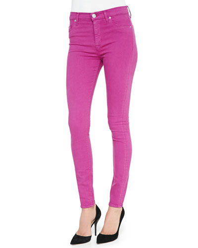 Hudson Barbara High-Waist Skinny Jeans, Hot Shot