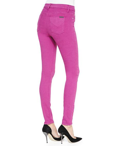 Hudson Barbara High-Waist Skinny Jeans, Hot Shot