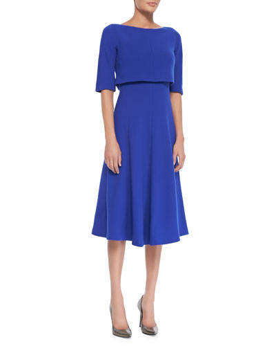 Lafayette 148 New York Julissa Cropped Popover Dress