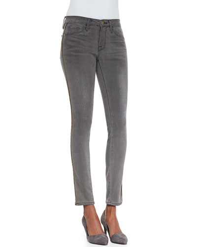 FRAME Le Skinny Zip-Detail Jeans, Thacher