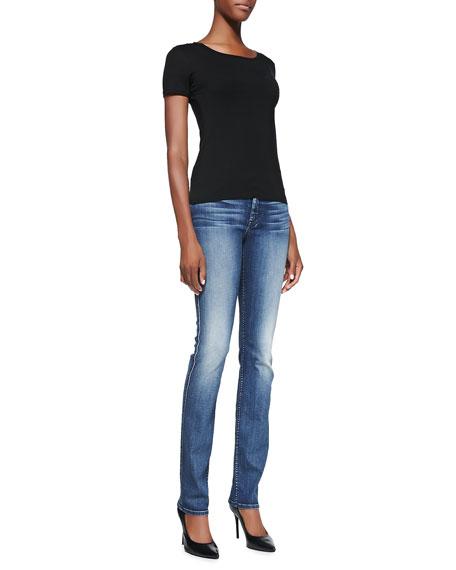 Modern Straight Denim Jeans, Lehrouche