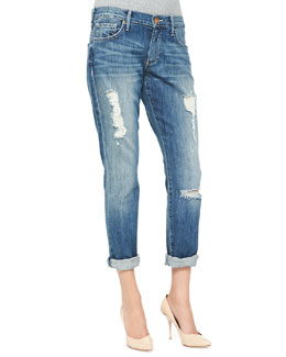 True Religion Audrey Relaxed Distressed Jeans, Stoney Point