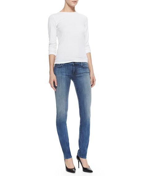 Victoria Mid-Rise Slim Jeans, Earth's Mystery