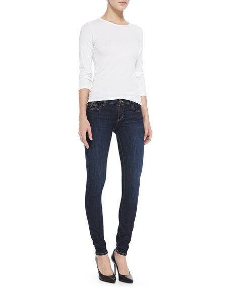 Casey Low-Rise Skinny Jeans, Blue