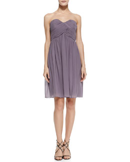 Donna Morgan Morgan Strapless Ruched-Bodice Cocktail Dress