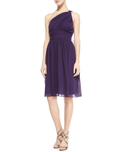 Donna Morgan Rhea One-Shoulder Cocktail Dress