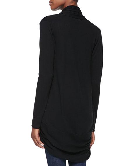 Draped Knit Circle Cardigan