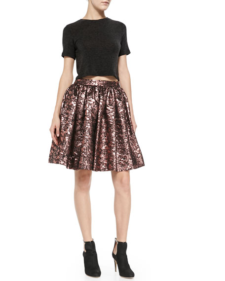 Pia Metallic Jacquard Full Skirt