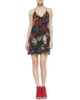 Alice + Olivia Fierra Floral-Print Chiffon Dress