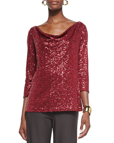 Stretch Sequined Top, Women