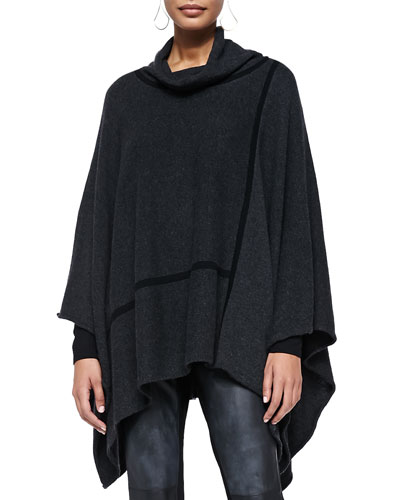 Eileen Fisher Turtleneck Cashmere Poncho