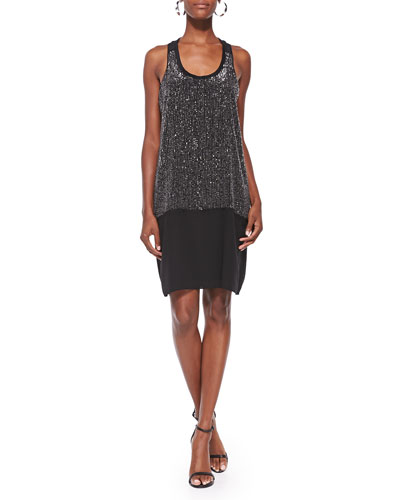 Eileen Fisher Sequined Racerback Dress
