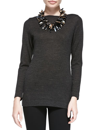 Eileen Fisher Merino Wool Long-Sleeve Top