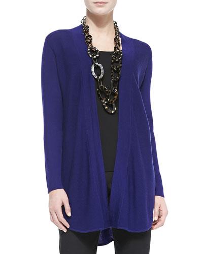 Eileen Fisher Merino Wool Jersey Long Cardigan, Women's