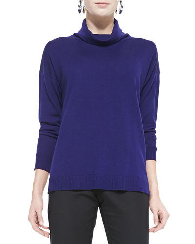 Eileen Fisher Merino Turtleneck Top