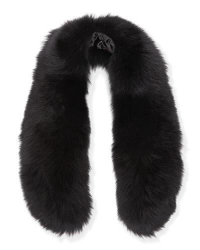 Alice + Olivia Izzy Fox Fur Collar, Black
