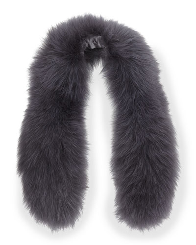 Alice + Olivia Izzy Fox Fur Collar, Gray