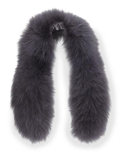 Alice + Olivia Izzy Fox Fur Collar, Gray