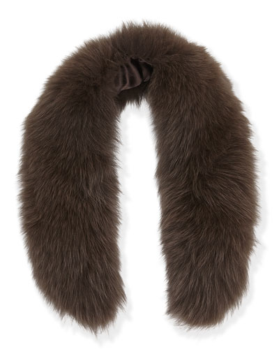 Alice + Olivia Izzy Fox Fur Collar, Brown