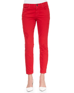 Current/Elliott The Stiletto Distressed Denim Jeans, Victory
