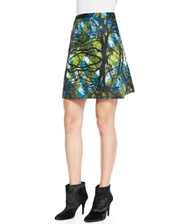 Risto Greenwoods Printed A-Line Skirt
