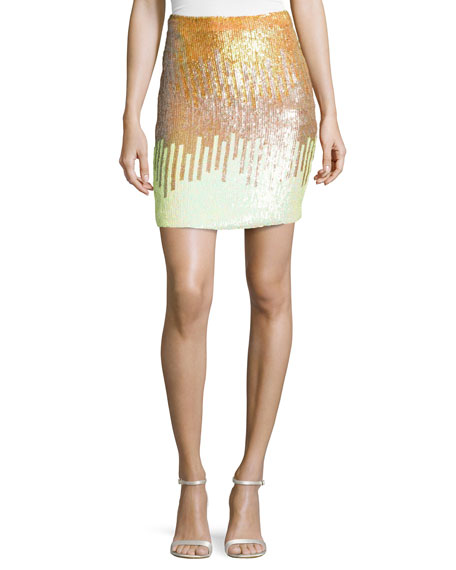 Versace Sequined Pencil Skirt