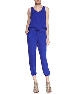 Theory Lortan W Double-Georgette Jumpsuit