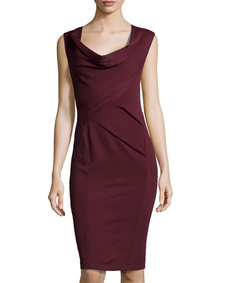 Draped Cowl Neck Dress: Donna Karan Draped Cowl-Neck Dress