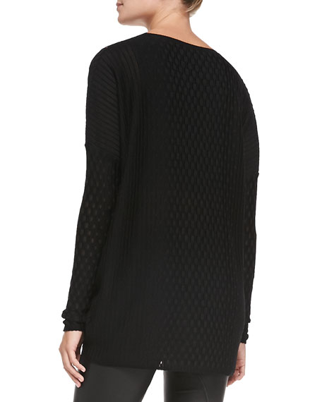 Vertical Dash Knit Tunic