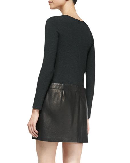 Bowmont Knit/Leather Combo Dress