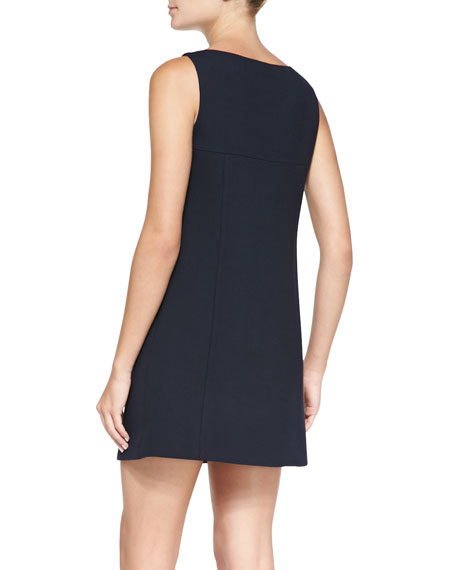 Denata Sleeveless Crepe Dress