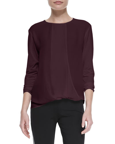 Theory Drate Long-Sleeve Flowy Top