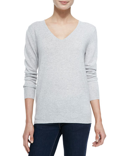 Theory Cashmere Wynn V-Neck Pullover Sweater