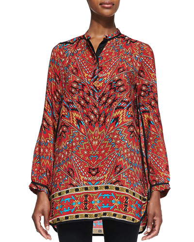 Tolani Ellie Long Printed Tunic