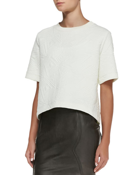 Jacquard Knit Cropped Top