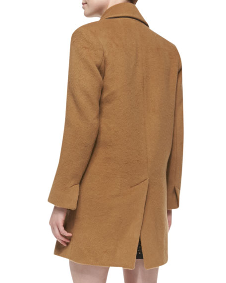 Delsa Double-Breasted Felt Coat
