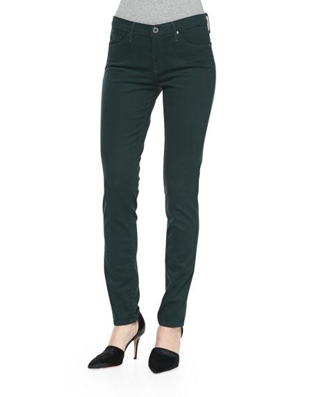 AG Prima Sateen Mid-Rise Jeans, Rainforest Green