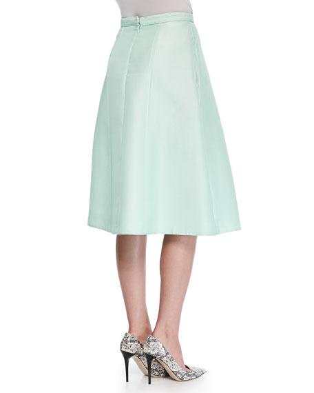 Simona Cross-Pleat Jacquard Skirt