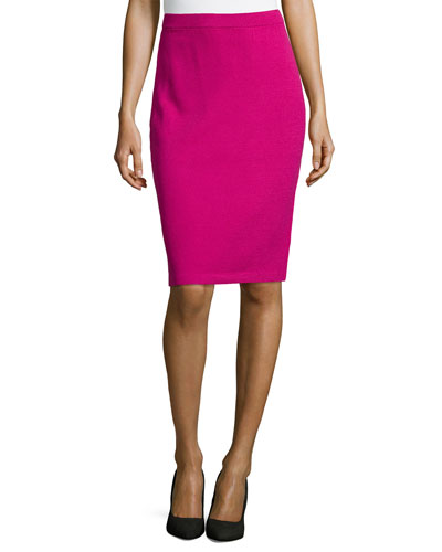 Pull-On Knit Pencil Skirt, Cosmo
