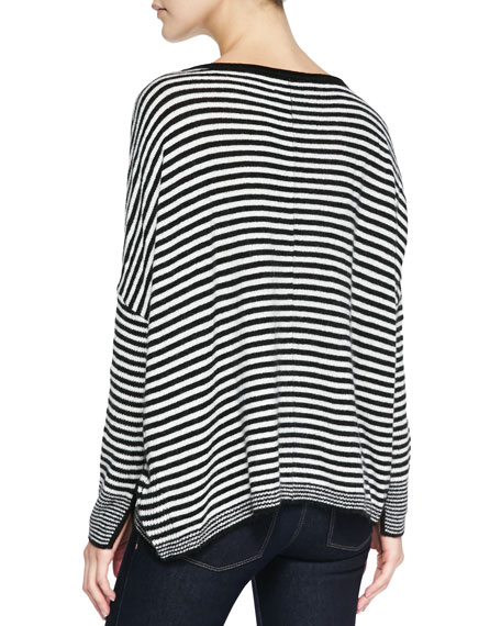 Boxy Ribbed & Striped Sweater