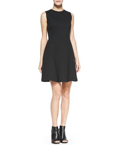 O'2nd Flare-Skirt Sleeveless Scuba Dress