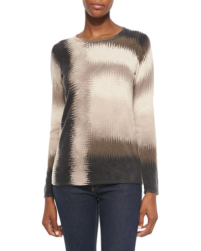 Belford Sketchy Plaid Cashmere Top
