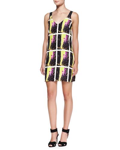 Alice & Trixie Kennedy Sleeveless City Photo-Print Dress