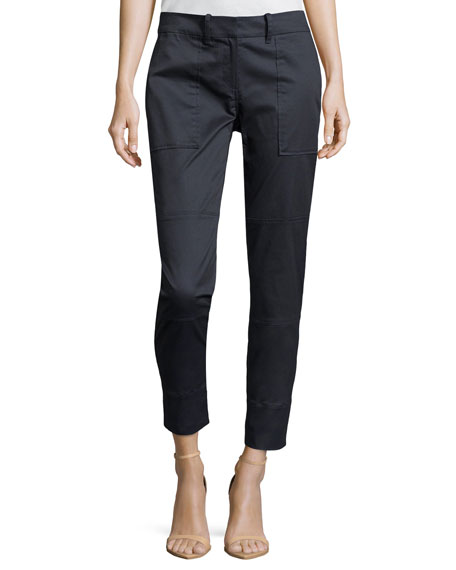 Tapered Twill Cargo Pants, Storm