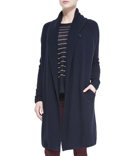 Vince Knit Car Coat Sweater, Navy